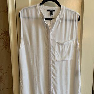 Forever 21 Shirtdress, White, NWT, Size S